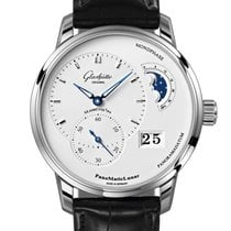 Glashütte Original PanoMaticLunar Staal 40mm Zilver