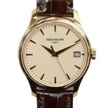 百達翡麗 Calatrava 18 K Yellow Gold Beige Automatic 5227J-001
