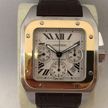 Cartier Santos 100XL Chrono steel/gold