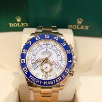 Rolex Yacht-Master II Yellow gold 44mm White No numerals