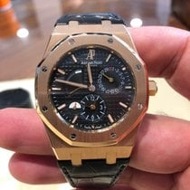 Audemars Piguet 26120OR.OO.D002CR.01 Rose gold 2015 Royal Oak Dual Time 39mm pre-owned