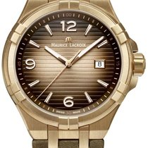 Maurice Lacroix Bronze 44mm Quartz AI1028-BRZ01-720-1 new