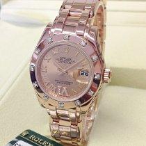Rolex Lady-Datejust Pearlmaster Rózsaarany 29mm Pink Római