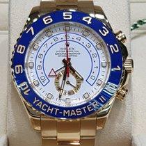 Rolex Yacht-Master II Geelgoud 44mm Wit Geen cijfers