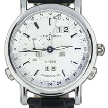 Ulysse Nardin Platinum Automatic White 40mm pre-owned GMT +/- Perpetual