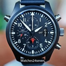 IWC Pilot Chronograph Top Gun pre-owned 46mm Double chronograph Date Buckle