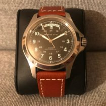 Hamilton Khaki Field King pre-owned 40mm Black Date Weekday Leather