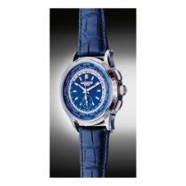 Patek Philippe World Time Chronograph White gold Blue United States of America, New York, New York