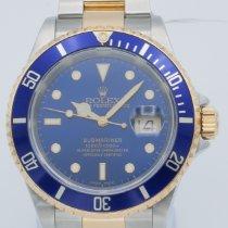Rolex Submariner Date подержанные 40mm Синий Дата Золото/Сталь