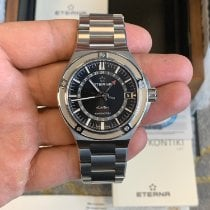 Eterna Royal Kontiki Steel 42mm Black