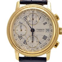 Tissot BRIDGEPORT T71343533 18k Yellow Gold on Black Leather