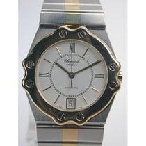 Chopard St. Moritz Goud/Staal 32mm Wit Romeins
