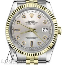 Rolex Datejust 36mm Silver Diamond Dial 16013