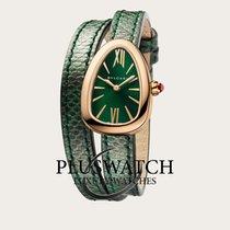 Bulgari Serpenti Rose gold 27mm Green Roman numerals