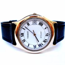 Tissot Stylist Classic by Dress Men 1980c Gold Plate