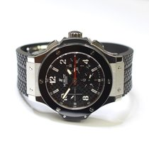 Hublot Big Bang 44mm Stainless Steel Mens Watch on Rubber...