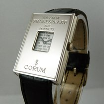 Corum Ouro branco 33,5mm Corda manual 56.384.59 novo
