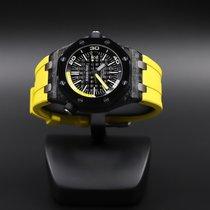 Audemars Piguet Carbon Automatic Black No numerals 42mm pre-owned Royal Oak Offshore Diver