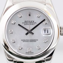 Rolex Lady-Datejust Pearlmaster White gold 34mm Mother of pearl No numerals