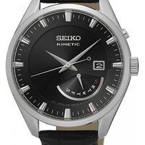 Seiko Kinetic Steel 42,00mm Black No numerals