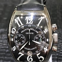 Franck Muller Casablanca Steel 50mm Black Arabic numerals
