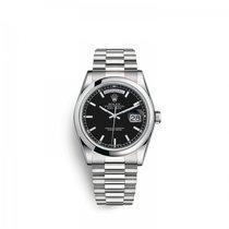 Rolex Platinum Automatic Black 36mm new Day-Date 36