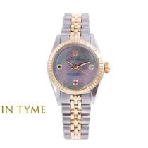 Rolex Oyster Perpetual Goud/Staal 24mm Parelmoer