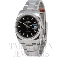 Rolex Oyster Perpetual Date Steel 34mm Black United States of America, New York, Hartsdale