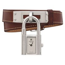 Hermès Kelly Stahl 20mm Silber Keine Ziffern