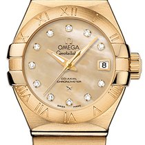 Omega Constellation Ladies Yellow gold 27mm Roman numerals