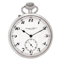 IWC pocket watch 564727 stainless steel White dial mm Manual...