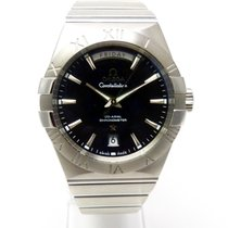 Omega Constellation Day-Date Acero 38mm Negro