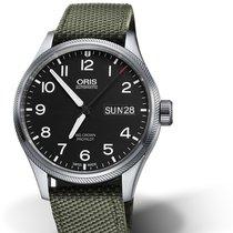 Oris BIG CROWN PROPILOT DAY DATE Black Dial-Green Textile Strap