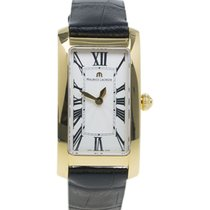Maurice Lacroix Cream Gold-Plated Fiaba Women's Wristwatch