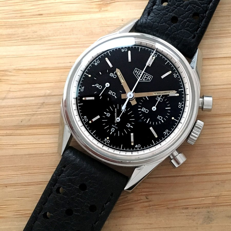TAG Heuer 35mm 1964 Re-edition Heritage Carrera Manual Chronograph