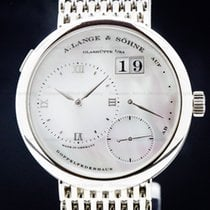 A. Lange & Söhne Lange 1 White gold 38.5mm Mother of pearl Roman numerals