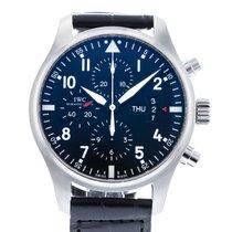 IWC Pilot Chronograph Stal 43mm Czarny