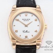 Rolex Pозовое золото Механические Белый Aрабские 32mm подержанные Cellini