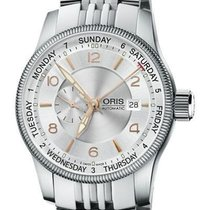 Oris Big Crown Small Second Pointer Day Acero 44mm Plata