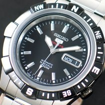 Seiko 5 Sports Steel 41.5mm Black No numerals