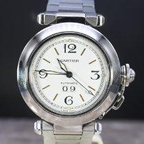 Cartier Pasha C Acero 35mm Blanco Arábigos