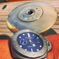 Panerai Luminor Submersible 1950 3 Days Automatic usados 47mm Azul Fecha Caucho