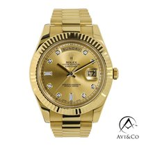 Rolex 218238 Yellow gold 2011 Day-Date II 41mm pre-owned United States of America, New York, New York