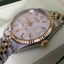 Rolex Oyster Datejust Gold Steel Silver Dial 36 mm (1967)