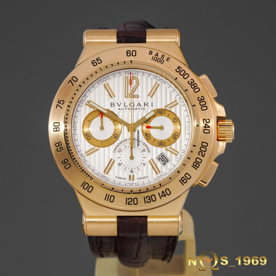 d1f85c1f3b6 Bulgari Diagono Professional Terra Chronograph 18K Gold B Pap for ...