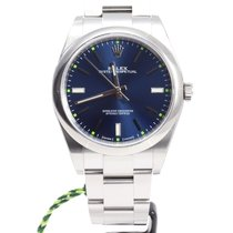 Rolex Oyster Perpetual 39mm Steel Blue index