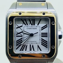 Cartier Santos 100 XL Box and papers gold steel 18K