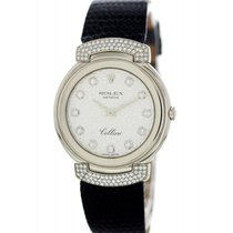 Rolex Cellini pre-owned 33mm White Crocodile skin