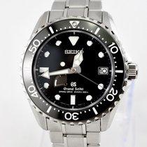Seiko Grand Seiko Steel 44.2mm Black No numerals
