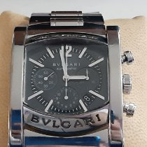 Bulgari Assioma Stal 44mm Szary Bez cyfr